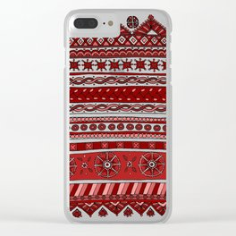 Yzor pattern 005 red Clear iPhone Case