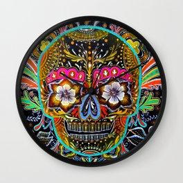 Sugar skull III Wall Clock