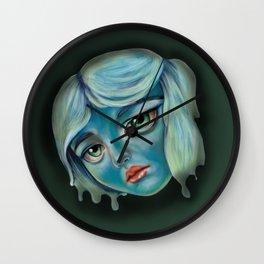 Little Lady in Blue Wall Clock