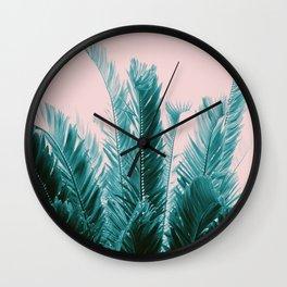 Tropical Leaves Dream #6 #tropical #decor #art #society6 Wall Clock
