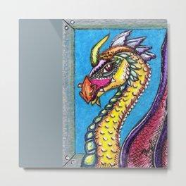Feldspar Dragon Metal Print