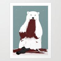 santa Art Prints featuring santa? by Rich Orr