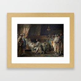 Ignacio Pinazo Camarlench - In His Final Moments, King Jaime el Conquistador gives his Sword to his Framed Art Print