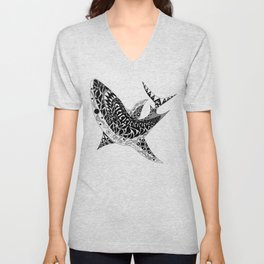 Mr Shark ecopop Unisex V-Neck