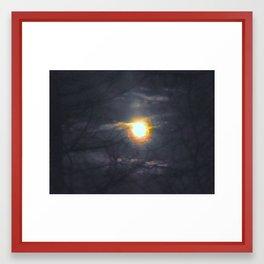 Blazing Moon Framed Art Print