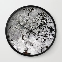 Close up background of melted ice. Wall Clock
