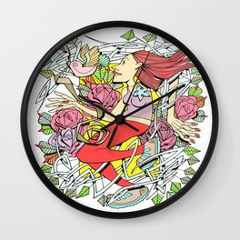 Jogging woman Wall Clock