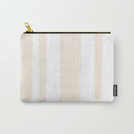 Mixed Vertical Stripes - White and Linen Carry-All Pouch