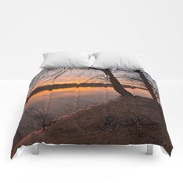 Potomac River Sunset Comforters