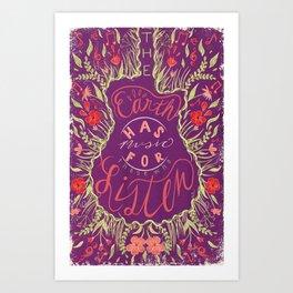 Guitar Poster Quote Art Print
