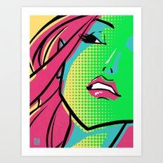 GCMYK GIRL Art Print