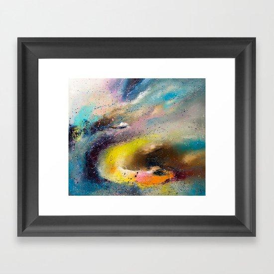 Flying snake Framed Art Print