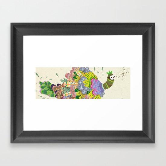 Cloud Peacock Framed Art Print