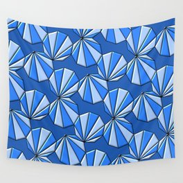 Enneagons - Blue Wall Tapestry