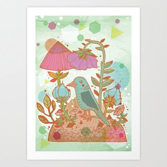 The Blue Bird Art Print