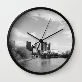 Columbus Ohio 1 - B&W Wall Clock