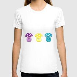 funny cute mushroom watercolor painting T-shirt