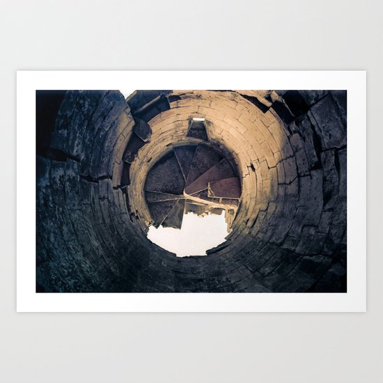 Shattered Spiral Art Print