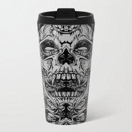 2 FACES SKULL Metal Travel Mug