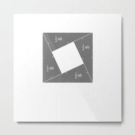 Pythagorean Theorem Algebraic Proof Math T-Shirt Metal Print