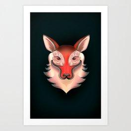 Fox Rabbit Art Print
