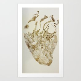 Open Heart Art Print