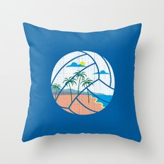Beach Volleyball Throw Pillow