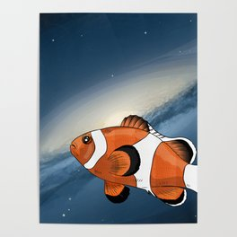 A clownfish in the universe Poster