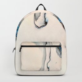 Blue Abstract Fluid Pour - Minimalist Backpack