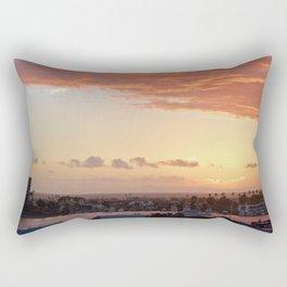 Modern Sunset On Cliff Drive Newport Beach CA Rectangular Pillow