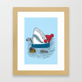 Great White North Shark Framed Art Print