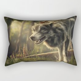 Faster (Wolf and Squirrel) Rectangular Pillow