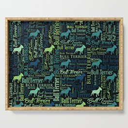 Bull Terrier Dog Word Art pattern Serving Tray