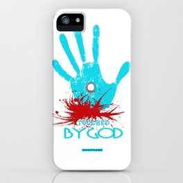 Touched by God (t shirt design) iPhone Case