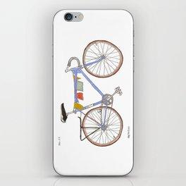 Blue Bike no 12 iPhone Skin