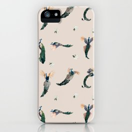 Pink Peacocks iPhone Case