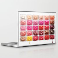 nail polish Laptop & iPad Skins featuring Dripping Nail Polish by LuxuryLivingNYC