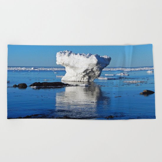 Iceberg in the Shallows Beach Towel