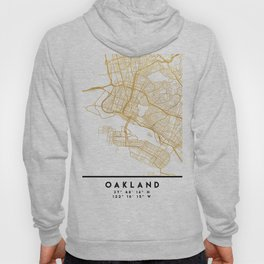 OAKLAND CALIFORNIA CITY STREET MAP ART Hoody