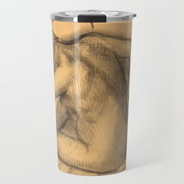 After the Bath, Woman Drying Her Hair Travel Mug