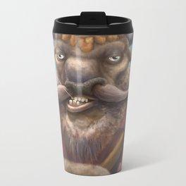 Bison Lumberjack Metal Travel Mug