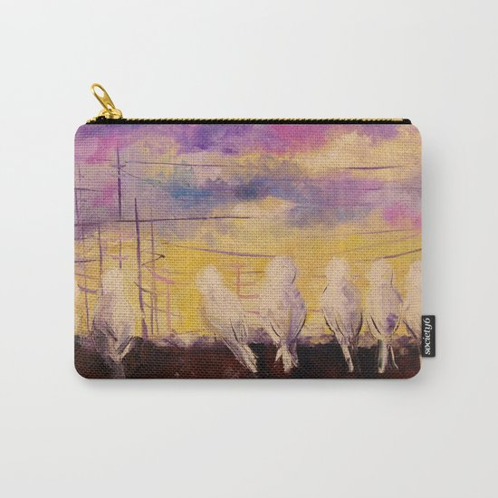 Pigeons at sunset Carry-All Pouch