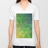 lemon V-neck T-shirts featuring Lemon by Trash Apparel