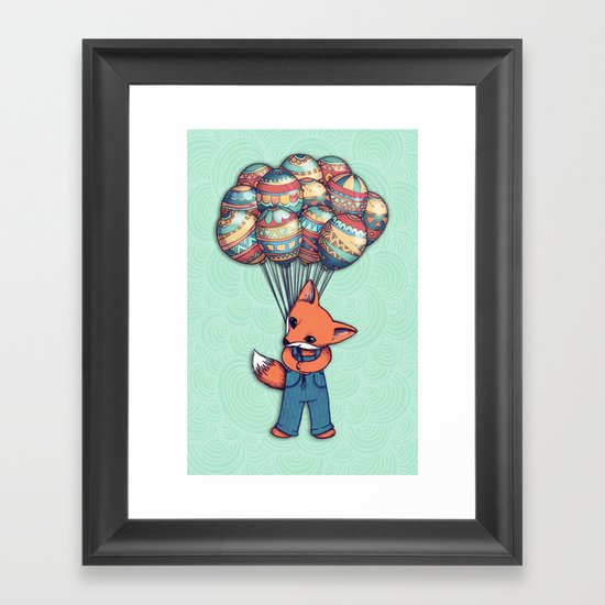 A Bunch of Balloons for my Baby Framed Art Print