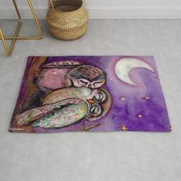 Owls in love Rug