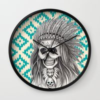 calavera Wall Clocks featuring Calavera Skull by MY  HOME