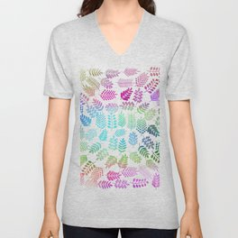 Colorful branches 3 Unisex V-Neck