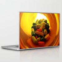 pills Laptop & iPad Skins featuring Pills by Jerel Cardona