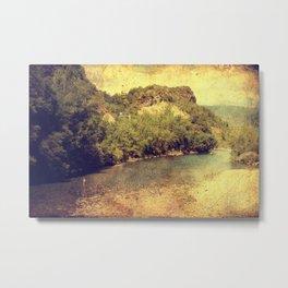 Vintage river landscape Metal Print