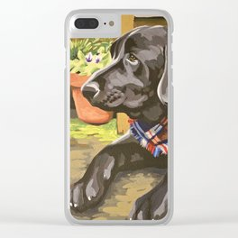 Bodie Dog Portrait Clear iPhone Case